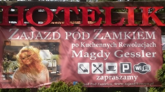 Ketrzyn, Polen: Reklama Zajazdu