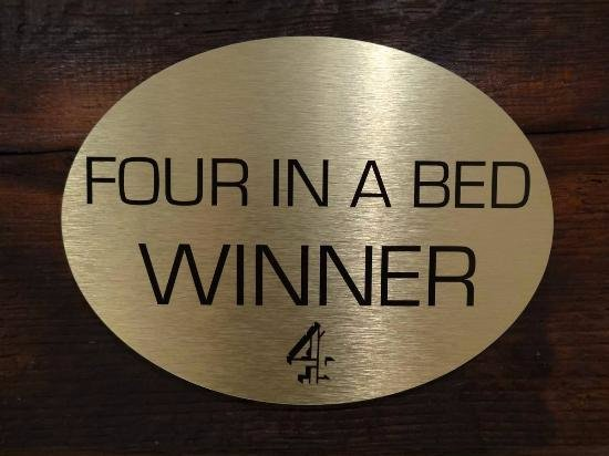 "Lockerbie, UK: Winners of the Channel 4 TV program ""Four in a Bed"""