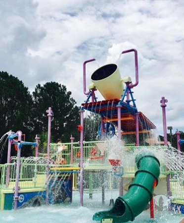 St. Marys, GA: The kids loves when that bucket fills with water and dumps out on them!