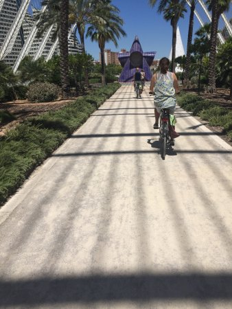 "Tours in Valencia Play &Xperience: Biking through ""City of Arts and Sciences""."