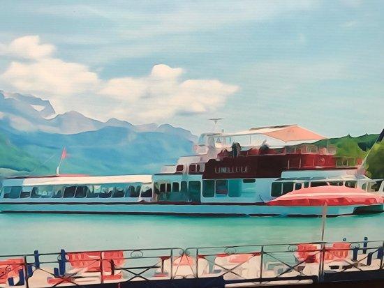 superbe d jeuner sur le lac d 39 annecy picture of bateau restaurant ms libellule annecy. Black Bedroom Furniture Sets. Home Design Ideas