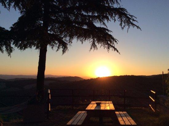 Gualdo Cattaneo, Italy: Incantevole tramonto!