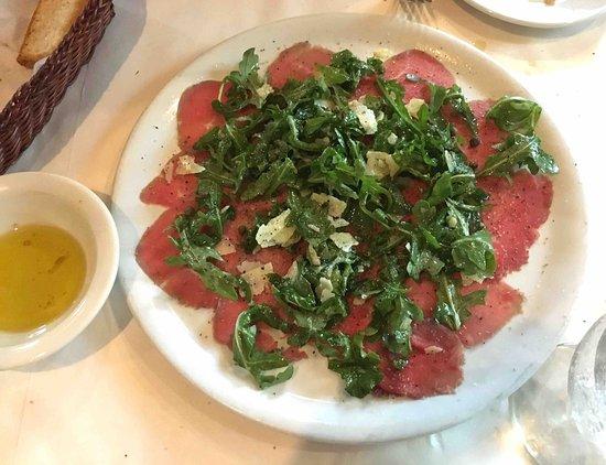 Atenas, GA: Beef Carpaccio with parmesan and arugula