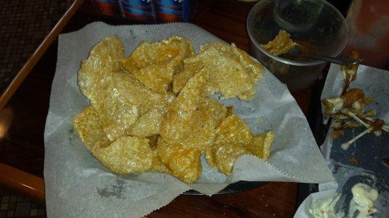 Christiansburg, Wirginia: Bland fried pork skins