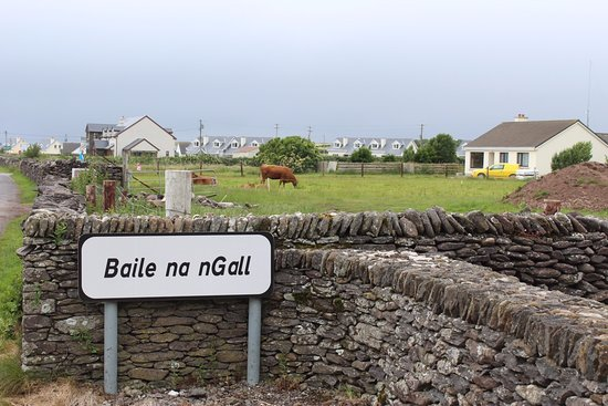 Ballydavid, ไอร์แลนด์: Dingle Way hikers-- if you've reached this sign, you're almost to Imeall na Mara! Great spot to