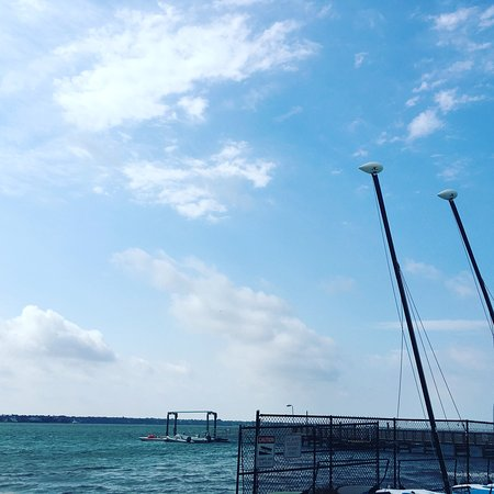 Clearwater Community Sailing Center: The sailing center's dock
