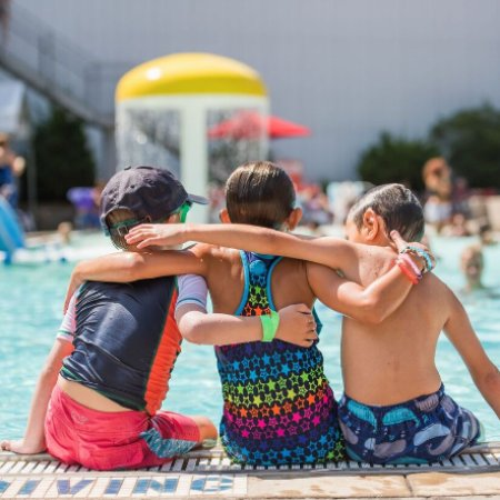 Clymer, NY: Sibling Bonding at the Indoor/Outdoor Pool Complex