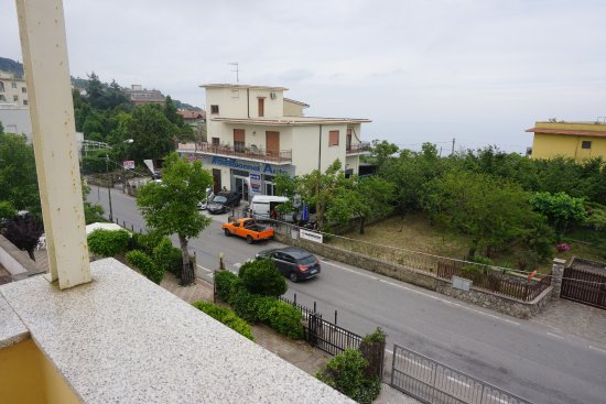 Hotel Sant Agata Balcony Room Right Side View Road And Car Al