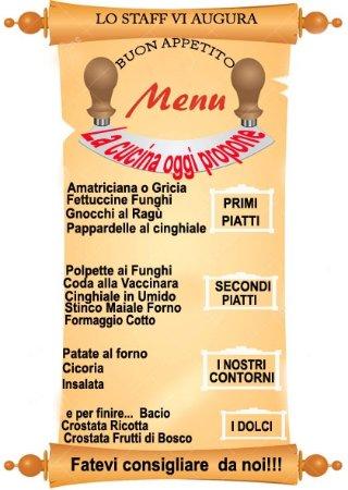 Monte Terminillo, Italy: Questo menù l'abbiamo pubblicato per aniaegorova