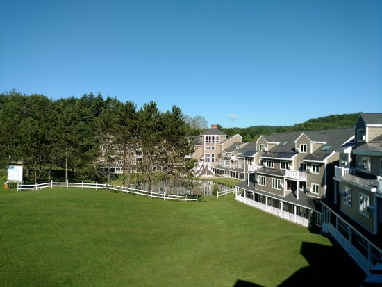 Brownsville, VT: The View from our balcony of the open area behind the resort.