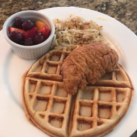 Madison, VA: Chicken and our Homemade Waffle on our Brunch menu!
