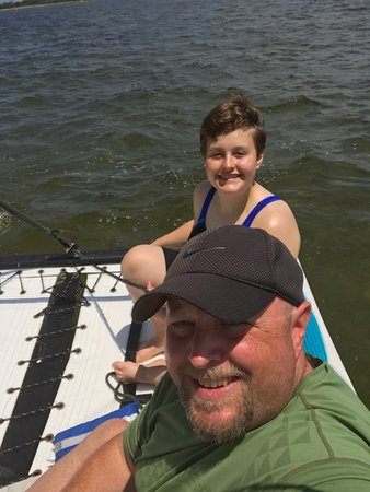 Salvo, NC: Out on the water with my kid