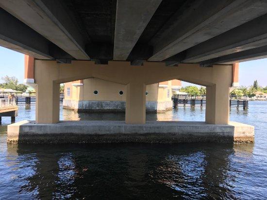 Bicentennial Park, Lantana, Florida: Under Bridge on the Pier May 2017