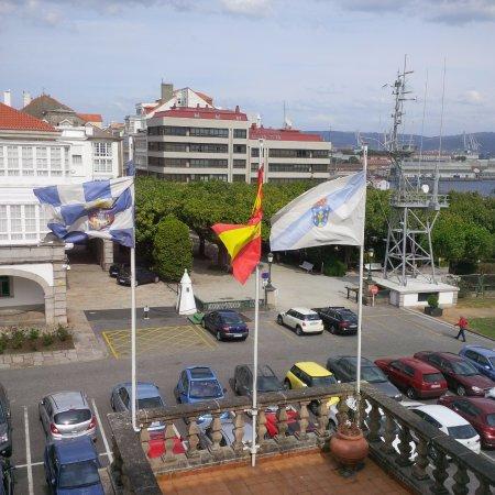 Parador de Ferrol: View from our Room on 2nd Floor