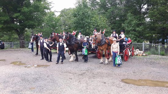 Lunenburg, Canada: Trot In Time in the local parade. The 2017 team.