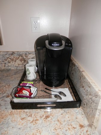 Sutter Creek, CA: coffee maker and coofies and creamer are provided .