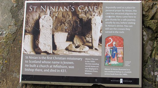 Whithorn, UK: St. Ninian's Cave info