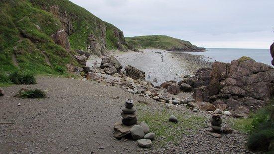 Whithorn, UK: The beach near St. Ninian's cave