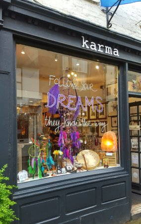 Karma A quirky gift shop situated on the ancient street of Kirkgate, Ripon