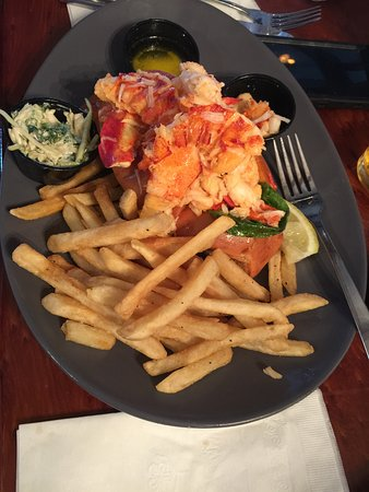 Hull, MA: Lobster roll is over-stuffed and delicious