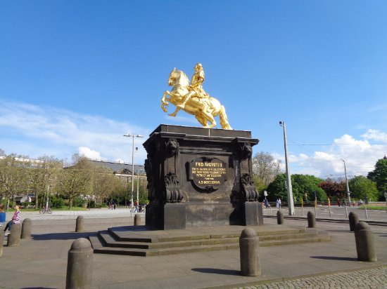 Neustadt: Statue of Augustus the Strong