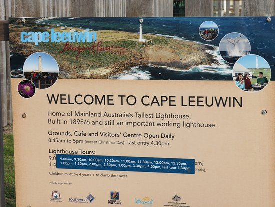 Leeuwin-Naturaliste National Park: General information at the entrance