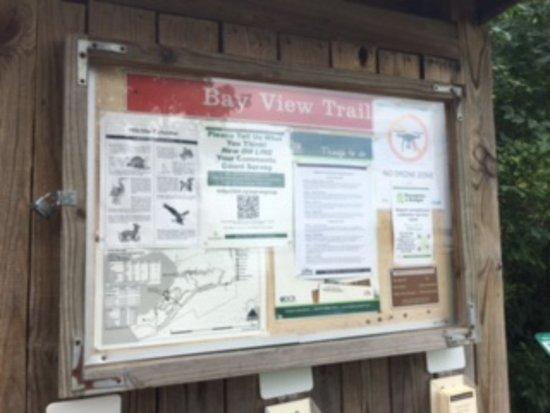 Lorton, Wirginia: Information sign on Trail