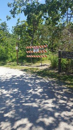 Ottawa, IL: Blocked off trail