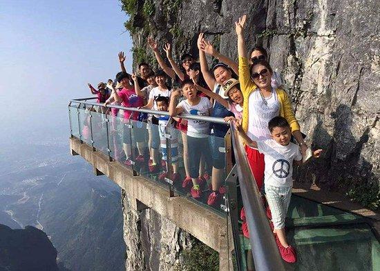 Zhangjiajie, China: Glass Walkway of Tianmen Mountain