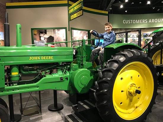 Waterloo, IA: Kids loved being able to get on or in a couple of tractors!