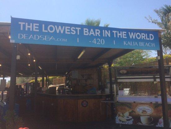 Kalia, ดินแดนปาเลสไตน์: Bar front