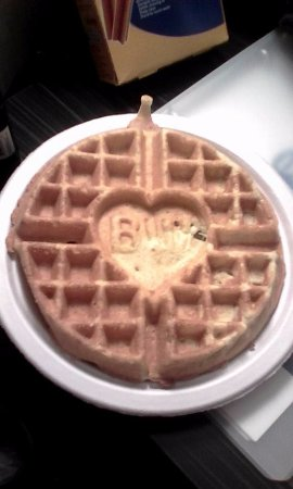 DuBois, PA: Best Western imprinted waffles at the free breakfast