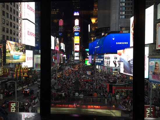 fantastic view of times square from the bar picture of. Black Bedroom Furniture Sets. Home Design Ideas