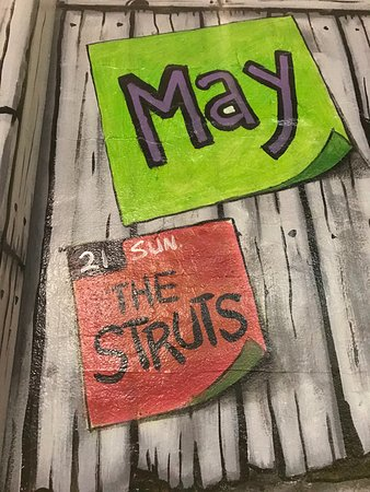 Bottle & Cork: Sign outside the venue May 2017