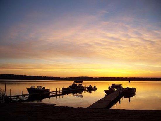 Grand Rapids, MN: Sunset on the docks