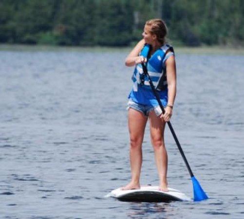 Paddleboarding on Bass Lake Grand Rapids, MN