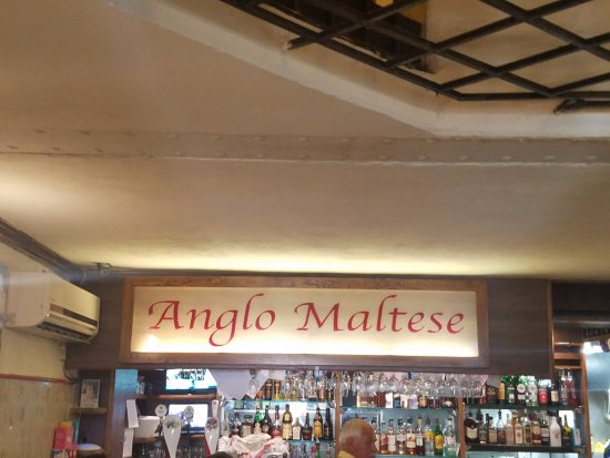 Anglo Maltese League: Name of Restaurant