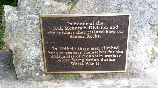 Seneca Rocks, WV: Plaque