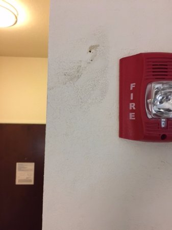 Holiday Inn Express & Suites Atlanta Airport West - Camp Creek: more stains on walls