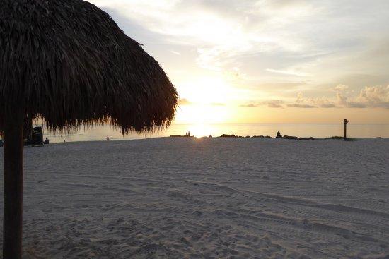 The Naples Beach Hotel & Golf Club: Sunset on a pristine, white sand beach