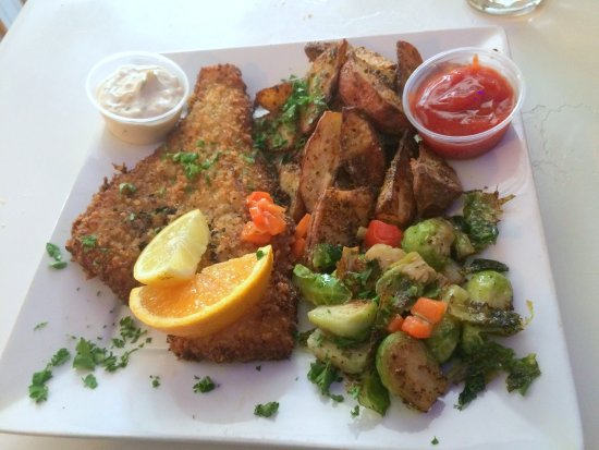 Bloomfield, Estado de Nueva York: Panko-crusted haddock