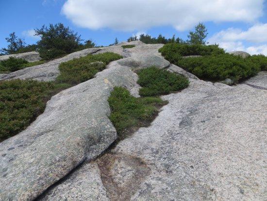 Thornton, New Hampshire: Long slabs. Dangerous when wet