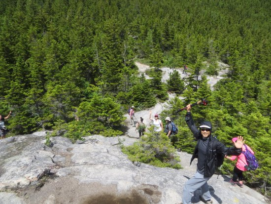 Thornton, NH: Hikers on trail