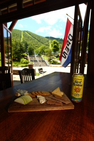 Warren, VT: Vermont Cheese Plate with a mountain view.