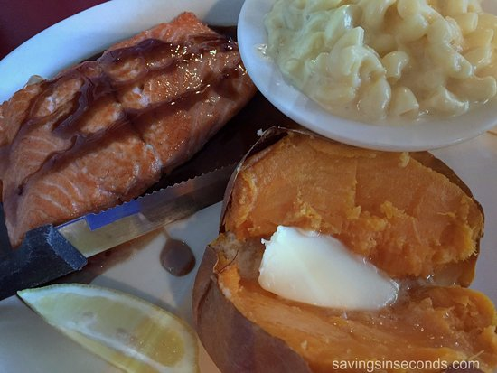 Greeneville, TN: Bourbon glazed salmon -- delicious!