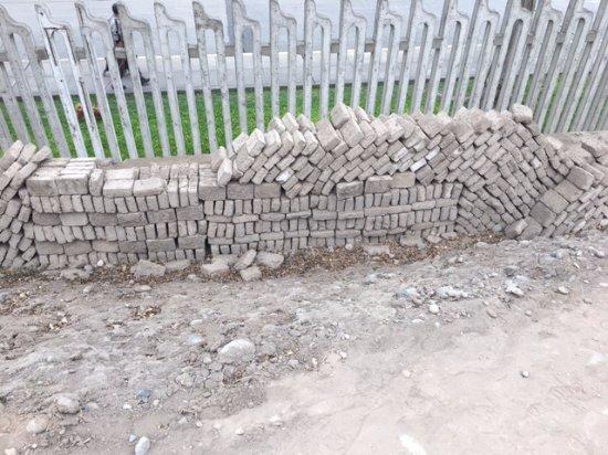 Huaca Pucllana : Huaca Puclana - tijolos para construção do templo