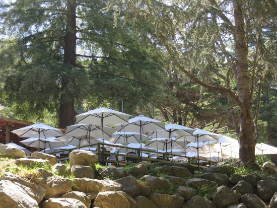 Big Sur River Inn: One of two outdoor patios