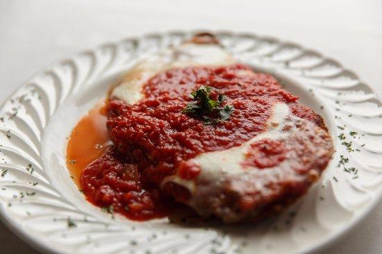 Bristol, PA: Annabella's Chicken Parmesan topped with mozzarella and marinara sauce.