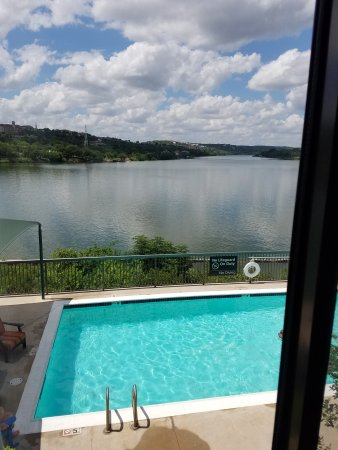 Marble Falls, Teksas: View from hotel room