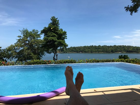 Hotel Bocas del Mar: View from infinity pool at Hotel Boca del Mar